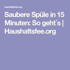 Saubere Spüle in 15 Minuten: So geht´s | Haushaltsfee.org