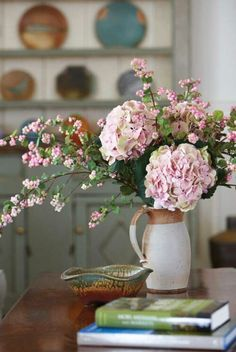 Country kitchen flowers