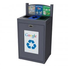 TRH36-3: #CommercialRecycling bin designed for indoor and outdoor construction. It supports up to 4 separate types of waste and recyclables. #CampusRecycling #OfficeRecycling
