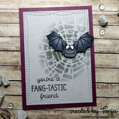 Fang-tastic Friend - https://littleartcottage.blogspot.de/2017/10/fang-tastic-friend.html #gerdasteinerdesigns #gsdstamps #alcoholmarkers #distressoxideink #timholtz #stencil #perfectpearls #lawnfawn #stamps #stamping #handmade #cardmaking