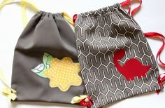 My Little Adventure Pack: How to make a drawstring bag - Somewhat Simple                                                                                                                                                                                 More