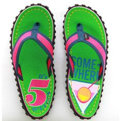 Cocktail Hour Flip Flop Women's, $20, now featured on Fab....just got these for the beach...how cute are these???!!!!