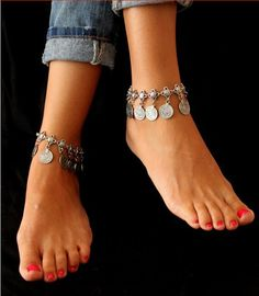 Antique Coin Anklet