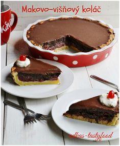 Milujem makovu strudlu s visnami. Tento kolac je vsak z trochu ineho sudka. Visne, mak a cokolada. Krehke cesto na spodu,. Velmi ...