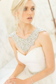 Shoulder wedding jewelry as seen on @offbeatbride