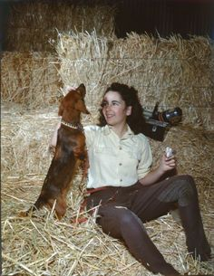 Elizabeth Taylor in National Velvet. A movie from my childhood.