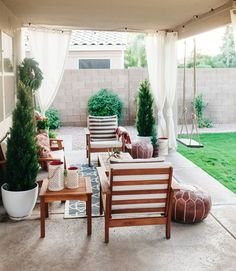 cozy outdoor arizona backyard