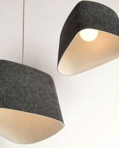 Felt Shade, #felt #lamp #pendant_lamp, #gray #grey one, by Tom Dixon, at Made In Design