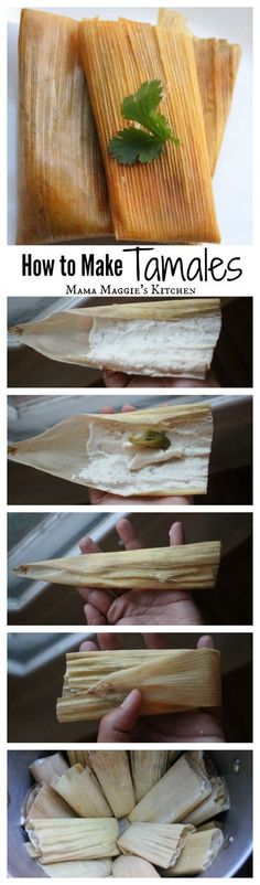 Tamales Recipe: Rajas con Queso, or Jalapeno and Cheese Tamales - this classic and yummy dish is a Mexican food favorite. - by Mama Maggie's Kitchen