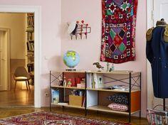 Eames Saarinen Organic Chair, Eames Storage Unit and Eames Hangitall, all by @vitra