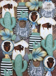 Wild One Birthday Party, Baby First Birthday, Cowboy Baby Shower, Baby Boy Shower, Girl Baby Shower Decorations, Baby Shower Themes, Western Babies, Baby Cookies, Baby Shower Gender Reveal