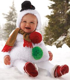 snowman baby costume - Chasing Fireflies