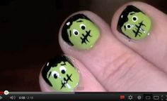 Halloween Beauty How-To: FrankenNails