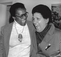 Radical black feminist poets Pat Parker and Audre Lorde from the cover of 'Sinister Wisdom', multicultural lesbian literary & art journal first published in 1976 Audre Lorde, Crochet Necklace, Authors, Lesbian, Wisdom, Journal, Cover, House, Free