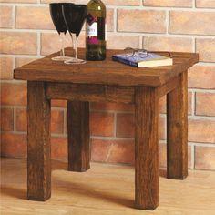 Bespoke Aged Oak Side Table - Prime Oak / Light/Medium