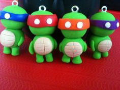 Ninja turtle made from polymer clay