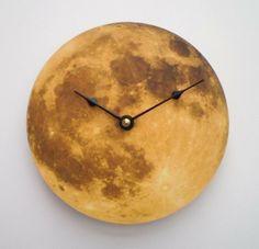 Autumn Moon Clock. $17.00, via Etsy.  I would love a whole wall of clocks.