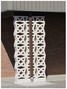 cinder block idea for fence