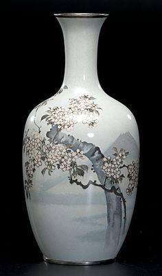 japanese cloisonne | 1272: Japanese Cloisonné Vase : Lot 1272