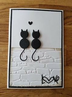Wedding card – good image – The Best Ideas Handmade Birthday Cards, Greeting Cards Handmade, Handmade Wedding, Cat Cards, Kids Cards, Tarjetas Diy, Punch Art Cards, Cricut Cards, Love Cards