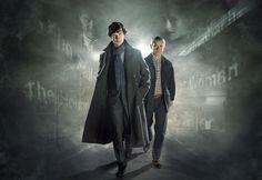 Sherlock TV Series (BBC starring Benedict Cumberbatch and Martin Freeman. Sherlock Bbc, Sherlock Holmes Season 4, Sherlock Tv Series, Sherlock Holmes Benedict Cumberbatch, Bbc Tv Series, Watson Sherlock, Martin Freeman, Poster Home, New Poster