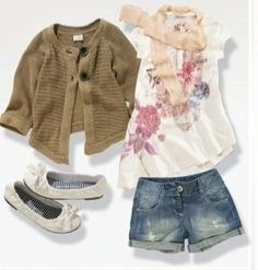 Adorable toddler girl outfit for a warm spring day.