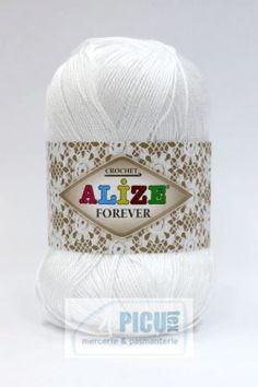 Poze Fir de tricotat sau crosetat - Fir microfibra ALIZE FOREVER ALB 55 Beanie, Fire, Crochet, Hats, Hat, Ganchillo, Beanies, Crocheting, Knits