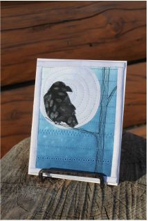 raven quilted card