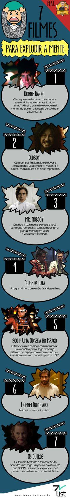 #SevenList #IdiotaCinéfilo #Art #Infográfico #Filmes #Cinema #Cinema #Movies