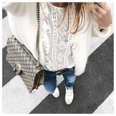 "3,682 Likes, 90 Comments - Clara (@theworkinggirl) on Instagram: ""ZOOM ☺️ • Top from @opullenceparis • Jeans #acnestudios • Purse #chloe • Belt #isabelmarant •…"""
