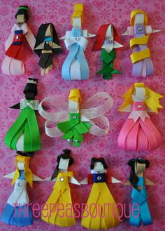 Disney Princess Inspired Clippie Collection by threepeasboutique, $55.00