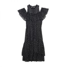 """- """"You can't go wrong with an off-the-shoulder dress, and Rebecca Taylor perfected the combination of playful and edgy here. Wear it now with a statement boot and fab coat, then take it into spring with a sexy sandal.""""Rebecca Taylor Women's Open Shoulder Metallic Dress, $595"""