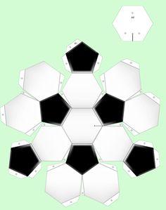 Bouwplaten knutselen: Voetbal