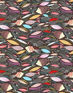 gaaaaaaaaaanz tolle seite mit unendlichen Mustern :-)))))))))) bright autumn pattern of fish and leaves von Tanor