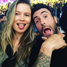 Occupation: Lead singer of Maroon 5  Together since: 2012, married since 2014   How they met:Reportedly at the2011 Victoria's Secret Fashion Show, where Adam was performing (and then dating fellow VS model Anne V)  Kids: Dusty Rose, born in September