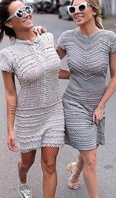 63 Cute and Stylish Crochet Dresses Pattern Ideas For Summer - Page 50 of 63 - Women Crochet Blog Pattern Ideas, Free Pattern, Knitting Patterns Free, Free Knitting, Knitted Flowers, Purple Wine, Crochet Dresses, Short Sleeve Dresses, Stylish