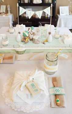 serve a boxed lunch and wrap them in a pretty white napkin for your guest to use. (will crop picture)