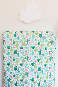 Cactus Crib Sheet Fitted Crib Sheet Baby Bedding by AmaviDreams
