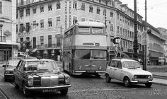 Double Decker Bus, Historical Photos, Lisbon, Buses, Vintage Photos, Portugal, Old Things, Street View, Historical Pictures