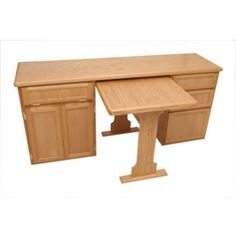 RV Cabinet Desk With Optional Table. [this site has a good price on a desk dinette combo]