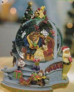 Disney Beauty and the Beast Christmas Snowglobe