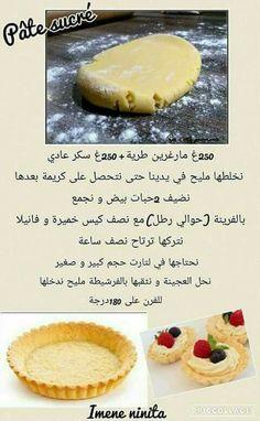 Arabic Dessert, Arabic Food, Arabic Sweets, Cookie Recipes, Dessert Recipes, Tunisian Food, Delicious Desserts, Yummy Food, Cooking Cake
