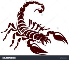 Scorpion, Vector Image For The Tattoo, Symbol Or Logo - 98089592 : Shutterstock