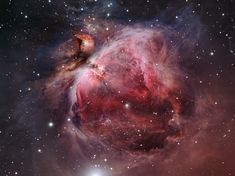 Orion Nebula M42.  1350 lights years from Earth. It is about 25 light years across. The Orion Nebula is an example of a stellar nursery where new stars are being born.