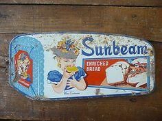 Vintage Sunbeam Bread Door Push Sign Advertising Collectible | eBay