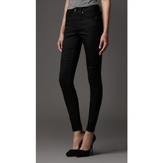 Burberry Smirdan Cropped Skinny Fit Jeans ($350) via Polyvore