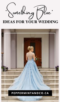 """""""Something old, something new, something borrowed, and something blue."""" You might think this is too traditional (Old English tradition that is supposed to bring good luck!) and no longer fit modern times, but honestly, it is still super cute to have """"something blue"""" at your wedding! So let's add a touch of blue to your wedding day with these ideas!"""