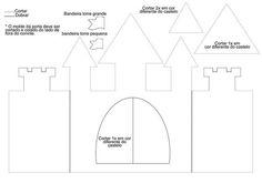 molde convite castelo para imprimir - Pesquisa Google