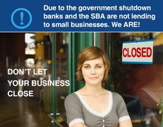With the government shutdown small business loans are impossible to get from banks and government sources. Apply Now! #governmentshutdown #finance #smallbusiness