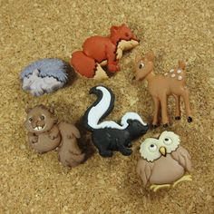 Hey, I found this really awesome Etsy listing at http://www.etsy.com/listing/101925018/forest-animals-novelty-buttons